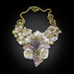 Francesca's necklace is inspired by the enchanted world of fairy tales. She is particularly interested in the 'Fairy of the Rocks' who is adorned in natural stones and attracts the most 'magical' creatures of the real world – anemones. These sea polyps are thought to feel safe and at home in the Fairy's Kingdom.  www.francescamarcenaro.com