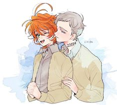 Norman x Emma Norman, My Little Pony Games, Shingeki No Bahamut, Tsundere, Cute Anime Couples, Manga Pictures, Neverland, Kawaii Anime, Online Art