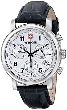 937b01e4bf35 Wenger Men s  Urban Classic Chrono  Swiss Quartz Stainless Steel Casual  Watch