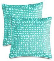 Koodi Summer Spot -tyynynpäälliset, 2 kpl, aqua-valkoinen