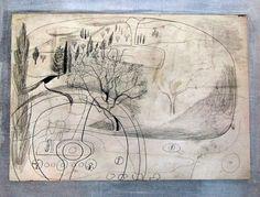 Ben Nicholson: Road Near Olympia Thumbnail Sketches, Winter Painting, Environment Concept Art, Gravure, Crayon, Art Sketchbook, Landscape Art, Art History, Art Drawings