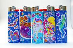 Custom Lighters, Cool Lighters, Cigarette Aesthetic, Grunge Goth, Light My Fire, Lisa Frank, Festivals, Glitter, Kid