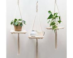 macrame plant hanger - Handgemaakt – Etsy NL