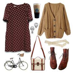"""Polka dotties"" by hanaglatison ❤ liked on Polyvore featuring Justin Boots, Wigwam, Retrò, women's clothing, women's fashion, women, female, woman, misses and juniors"