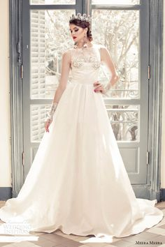 meera meera bridal fall 2013 2014 sleeveless a line princess wedding dress -- Meera Meera Fall 2013 Wedding Dresses Pretty Wedding Dresses, Garden Wedding Dresses, Elegant Wedding Dress, Wedding Party Dresses, A Line Gown, Celebrity Dresses, Dream Dress, Special Occasion Dresses, Bridal Style