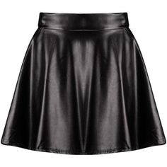 Boohoo Harlow Leather Look Full Skater Skirt | Boohoo ($16) ❤ liked on Polyvore featuring skirts, bottoms, saias, faux-leather pleated skirts, flared skirt, flared midi skirt, mini skirt and pleated skater skirt