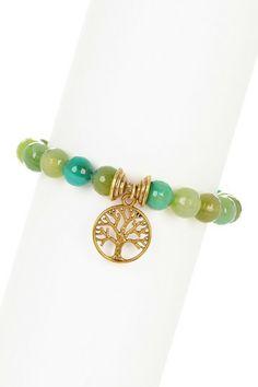 Yellow Green Tree of Life Stretch Bracelet by mariechavez on @HauteLook