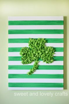 sweet and lovely crafts: tissue paper shamrock art