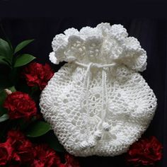 Crocheted Reticule - I have some white lace crochet yarn sitting around, but is this the way to go?