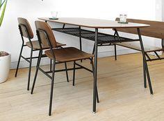 JOYSTYLE interior/商品詳細 幅135cm ミッドセンチュリーウォールナットアイアンテーブル ダイニングテーブル 食卓とダイニングチェアとベンチのダイニング4点セット GELMA-4SET