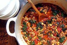 Turkey chili with kale