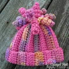 Click below link for free pattern… Danyel Pink Designs: Crochet Pattern – Delaney Hat Crochet Kids Hats, Crochet Beanie, Knit Or Crochet, Cute Crochet, Crochet Scarves, Crochet Crafts, Yarn Crafts, Crochet Stitches, Crocheted Hats