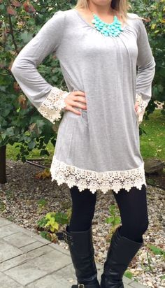 Gray Lace Crochet Chevron Chic Couture by ThinkPinkBoutique1