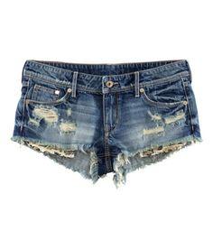 H&M - Denim Shorts - Denim blue - Ladies