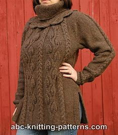 Ravelry: Cables and Leaves Tunic pattern by Elaine Phillips
