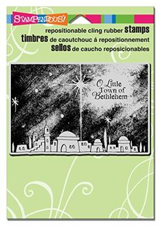 Stampendous Cling Bethlehem Night Rubber Stamp  STAMPENDOUS