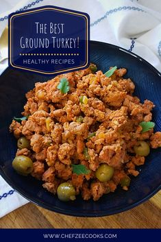 Turkey Picadillo is hands down one of the most underrated dishes! Healthy Dishes, Healthy Recipes, Healthy Food, Picadillo Recipe, Cooking Spoon, Ground Turkey Recipes, Cooking Turkey, Quick Meals, Beef Recipes