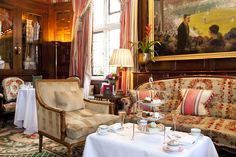 As well as serving traditional #AfternoonTea, the Lounge at The Milestone Hotel is also home to some fantastic original #art.