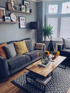 Boho Living Room, Cozy Living Rooms, Apartment Living, Home And Living, Living Room Decor, Hipster Living Rooms, Home Interior, Interior Design Living Room, Living Room Designs