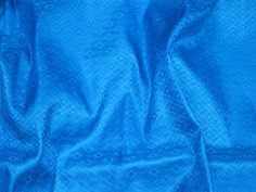 Blue Silk Jacquard Blouse Fabric By Yard Ties Indian Crafting | Etsy