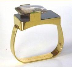 Christian LaCroix vintage 18k gold bangle bracelet.