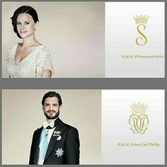 Official photos and monograms of prince couple of Sweden. Prince Carl Philip and princess Sofia   #princecarlphilip  #princesssofia
