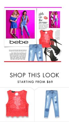 """""""All Laced Up for Spring with bebe: Contest Entry"""" by hellodollface ❤ liked on Polyvore featuring Bebe, Avenue and alllacedup"""