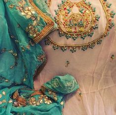 New embroidery ideas clothes suits ideas Embroidery Suits Punjabi, Embroidery Suits Design, Embroidery Fashion, Embroidery Dress, Hand Embroidery, Salwar Suits Party Wear, Punjabi Salwar Suits, Punjabi Dress, Designer Punjabi Suits