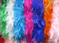 Wholesale Manmade Wedding Scarf - Buy Large Feather Boa 70, 40gGirls Princess Tea Party Dress Up Costume Accessory -Multi Color - Wedding Ceremony Boas, $1.85 | DHgate