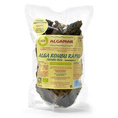 Alga Kombu rápida XL - Loveat!© - #We_Loveat - Alga kombu real (laminaria). Alga atlántica silvestre seca. Equivale a 1 kg de algas frescas. 100 gr=20 raciones. Premio a la biodiversidad del ministerio medio ambiente.