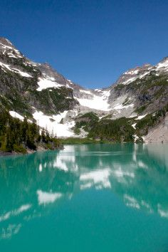 Blanca Lake in the Cascade Mountains in Washington State is only accessible by foot. I'm sure its worth the trek!