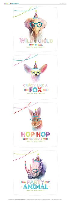 DIY Party Animal Plates + Banner (Free Printables!) // Hostess with the Mostess®
