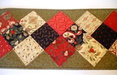 Winter Christmas Quilted Table Runner Table by ForgetMeNotQuilteds