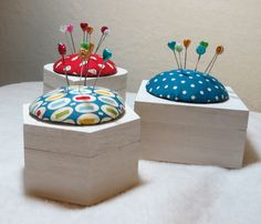 Box pin cushions at Assembly House Christmas Fair, Norwich this weekend 29/30th November 2014  http://aquilttintime.co.uk