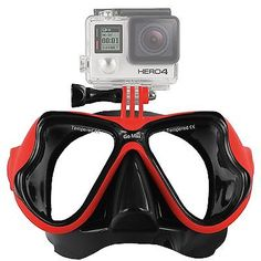 GoMax GoPro ® Scuba Diving Mask compatible for All GoPro ® Hero Red - http://scuba.megainfohouse.com/gomax-gopro-scuba-diving-mask-compatible-for-all-gopro-hero-red/