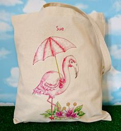 Flamingo Tote Bag. Personalised. Eco Tote. Pink Tote. Book Bag. Shopping Bag. Shoulder Bag. Personalized Tote bag by SueRocheIllustration on Etsy https://www.etsy.com/uk/listing/511553033/flamingo-tote-bag-personalised-eco-tote