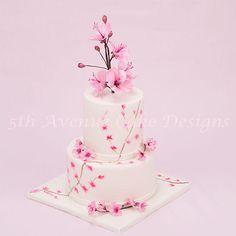 Springtime Cherry Blossom Cake | Cookie Connection