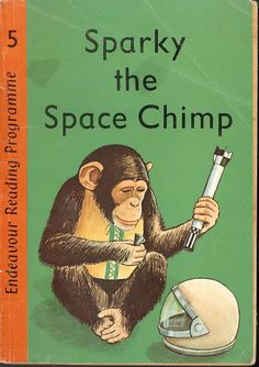 omg....I actually vaguely remember this. Yes...I remember..I felt horrible for the chimp!  Sparky the Space Chimp (1967)