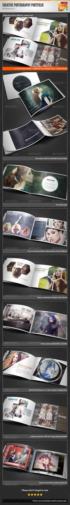 Creative Photography Portfolio A4 Brochure vol. 3 - Portfolio Brochures