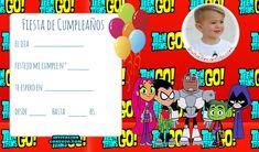 Invitaciones de Cumpleanos de Jovenes Titanes con Foto Pinata Party, American Dad, Teen Titans Go, Ideas Para Fiestas, Steven Universe, Birthday, Blog, Delaware, Cami