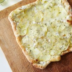 White Potato Pizza recipe on Food52 Homemade pizza dough using 00 flour or Italian flour  Yeast salt