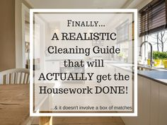 Image of a clean kitchen, cleaning guide, housework done