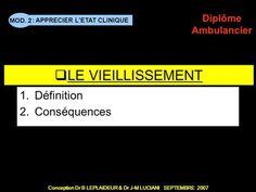 PERSONNES DEPENDANTES 2 - Vieillissement Définition Conséquences> Ageing