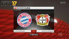 FIFA 17 Gameplay of the football match between Bayern Munich & Bayer Leverkusen in the Bundesliga, matchday at the Allianz Arena in München. Fifa 17, Football Match, Bayer 04 Leverkusen, Bavaria
