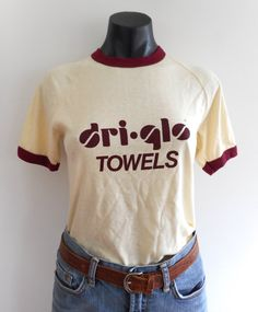 Vintage 70s Pale Yellow Ringer Tee  Brand: Modern Promotions P/L Size: Vintage size 16 = modern size 12 Best Fit: Small mens or medium womens