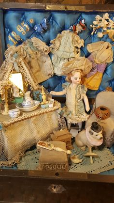 French mignonette with wardrobe casket and lots of accessories from lovelyoldthings on Ruby Lane
