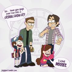 Fanart supernatural dean winchester sam winchester I did this gravity falls dipper pines mabel pines crossovers of awesome Gravity Falls Crossover, Fandom Crossover, Supernatural Fans, Supernatural Crossover, Supernatural Bunker, Supernatural Wallpaper, Destiel, Superwholock, Gravity Falls