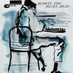 "Horace Silver: Blowin´ The Blues Away Label: Blue Note 4017 12"" LP 1959 Design: Reid Miles Illustration: Paula Donohue"