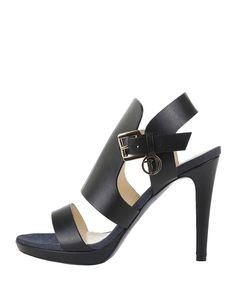Collection ss16 -  sandals women, closing with adjustable side buckle -  leather upper - leather insole, rubber sole, he - Sandal women Black