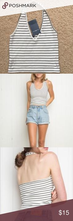 Striped halter top The tag has fallen off great condition no stains no rips Brandy Melville Tops Crop Tops